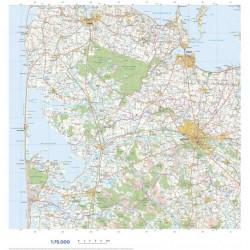 Trap Danmark: Kort over Holstebro Kommune: Topografisk kort 1:75.000