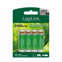 Genopladelige batterier  (4 x AA)