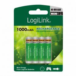 Genopladelige batterier  (4 x AAA)