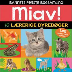 Miav - 10 lærerige dyrebøger (Barnets første bogsamling)
