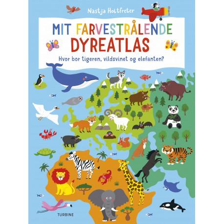 Mit farvestrålende dyreatlas: Hvor bor tigeren, vildsvinet og elefanten?