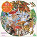 Sommerfugle og svampe - Rundt puslespil - 500 brikker