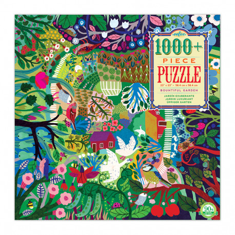 Puslespil 1000 brikker - Den frodige have