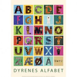 Dyrenes alfabet - PLAKAT (sælges i kolli á 6 stk)