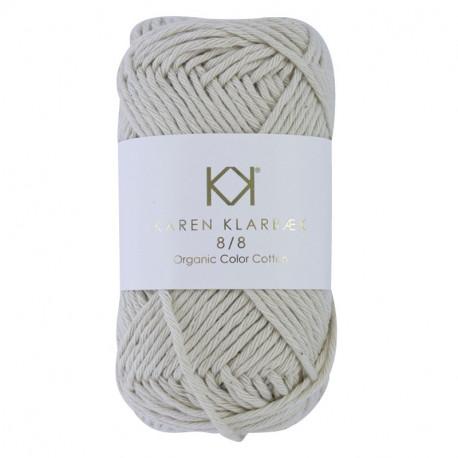 8/8 Warm Nature White - KK Color Cotton økologisk bomuldsgarn fra Karen Klarbæk