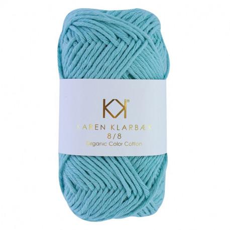 8/8 Turquoise - KK Color Cotton økologisk bomuldsgarn fra Karen Klarbæk