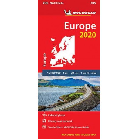Europe 2020, Michelin National Map 705