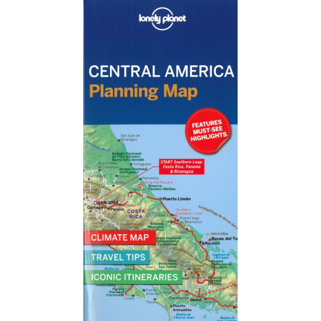 Lonely Planet Planning Map: Central America