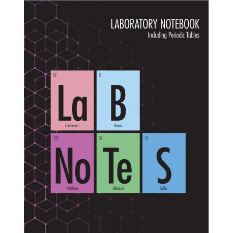 Lab notes: laboratory notebook, including periodic tables