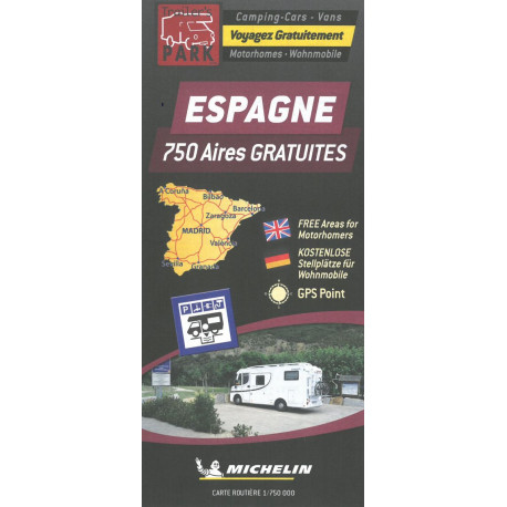 Spain - Espagne: Autocamper map - Aires camping-cars