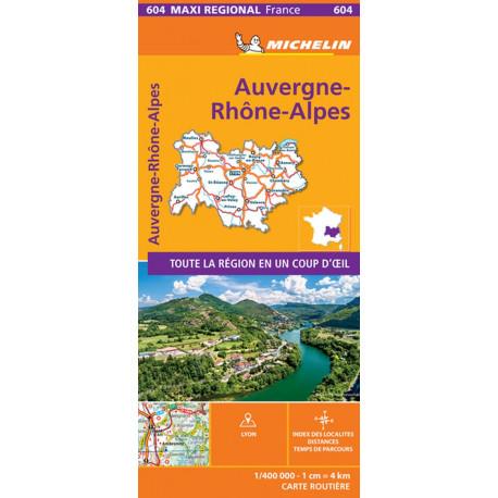 Auvergne Rhone Alpes, Michelin Maxi Regional Map 604