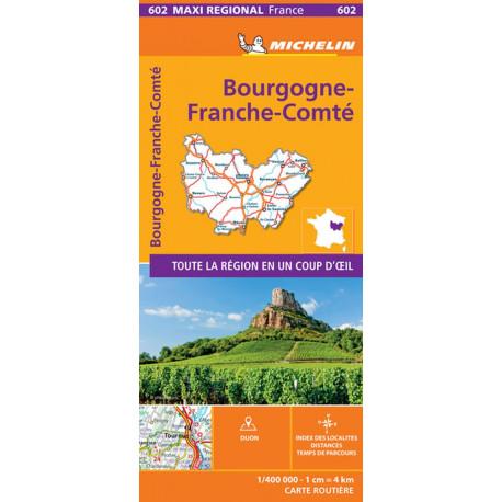 Bourgogne Franche Comte, Michelin Maxi Regional Map 602
