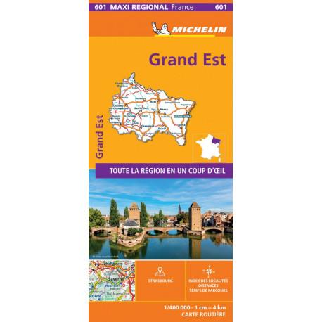 Grand-Est, Michelin Maxi Regional Map France 601