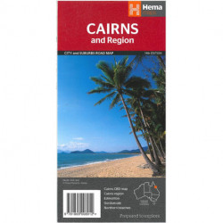 Cairns and Region: City and Suburbs Road Map