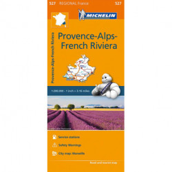 Michelin France blad 527: Provence-Alpes, Cote d´Azur / Provence-Alps, French Riviera