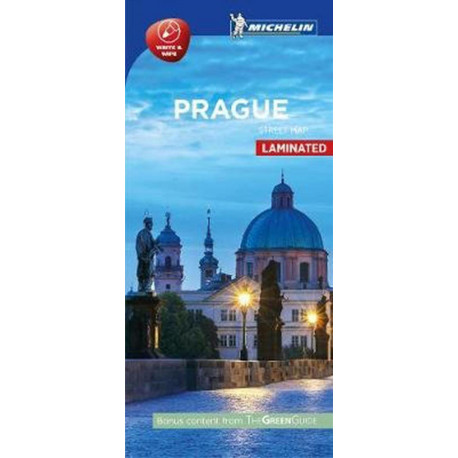 Prague Street Map Laminated