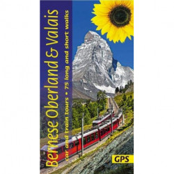 Bernese Overland and Valais: car and train tours, 75 long and short walks