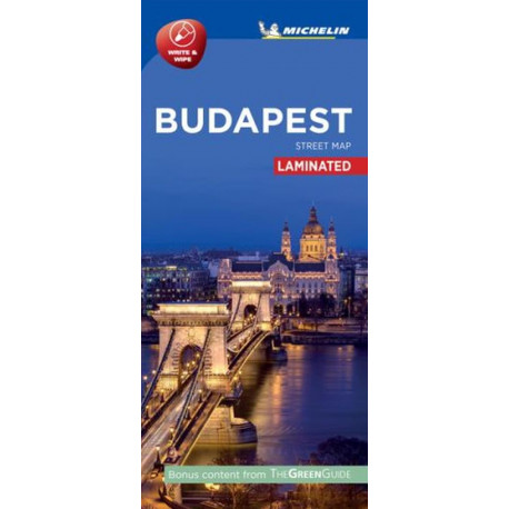 Budapest Street Map Laminated