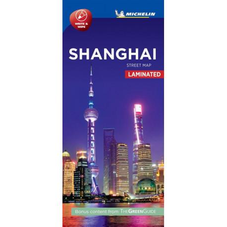Shanghai Street Map Laminated