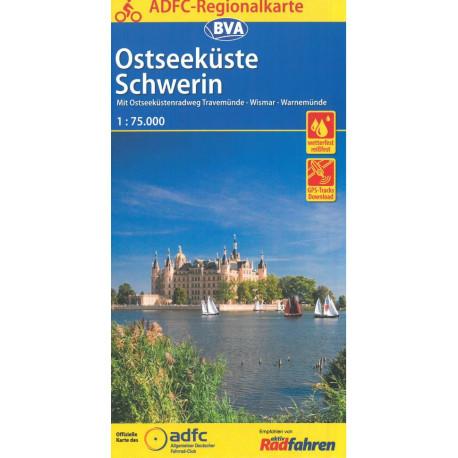 Ostseeküste Schwerin: Mit Ostseeküstenradweg Travemünde - Wismar - Warnemünde