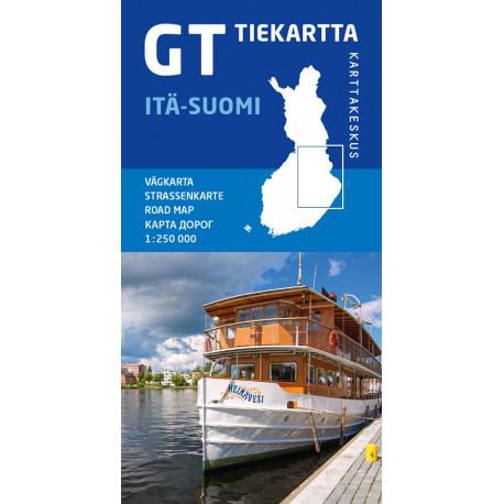 Itä-Suomi : tiekartta, vägkarta: tiekartta, vägkarta