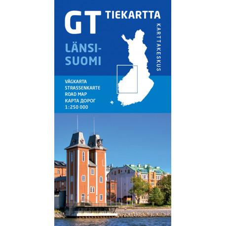 Länsi-Suomi / Väst-Finland: vägkarta - Strassenkarte - road map