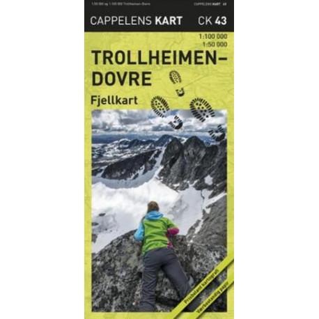 Trollheimen-Dovre : fjellkart: fjellkart