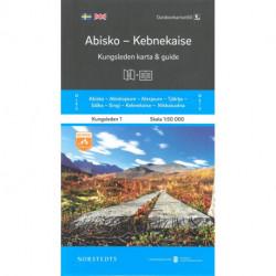 Abisko - Kebnekaise : Kungsleden karta & guide: Kungsleden karta & guide