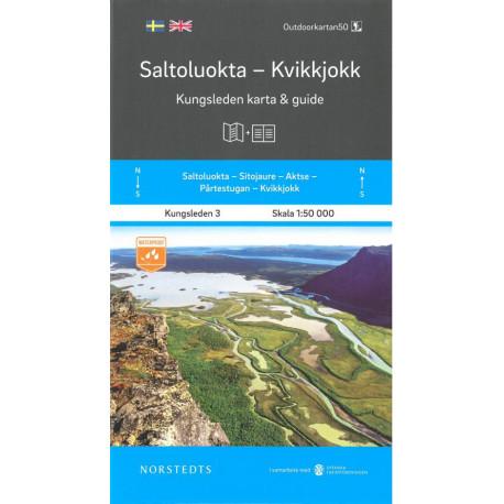 Saltoluokta - Kvikkjokk : Kungsleden karta & guide: Kungsleden karta & guide