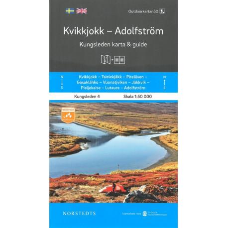 Kvikkjokk - Adolfström : Kungsleden karta & guide: Kungsleden karta & guide