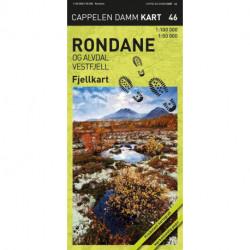 Rondane og Alvdal vestfjell : fjellkart: fjellkart