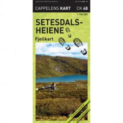 Setesdalsheiene : fjellkart