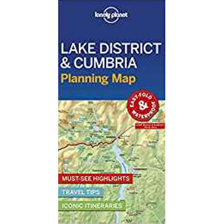 Lonely Planet Planning Map: Lake District & Cumbria