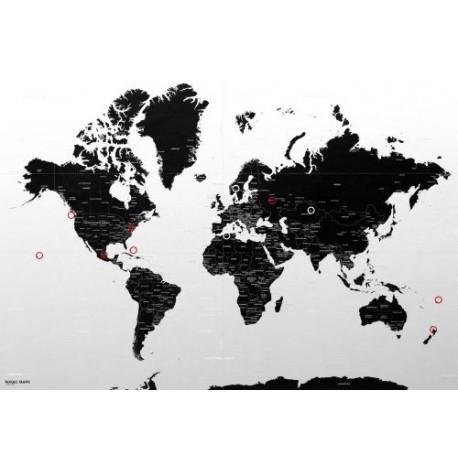Magic World Map: Large 140 x 100 cm
