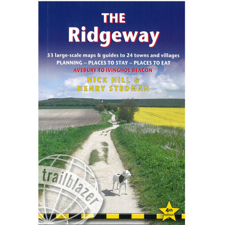 The Ridgeway: Avebury to Ivinghoe Beacon: 53 Large-Scale Walking Maps & Guides to 24 Towns and Villages