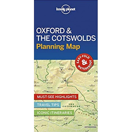 Lonely Planet Planning Map: Oxford & the Cotswolds
