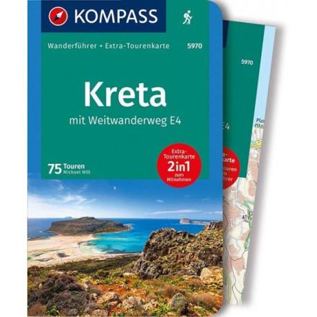 Kreta mit Weitwanderweg E4 Wanderführer mit Tourenkart