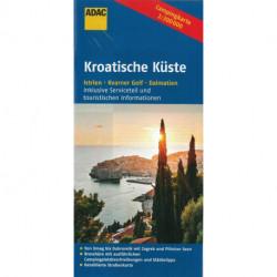 Kroatische Küste: Istrien, Kvarner Golf, Dalmatien, ADAC CampingKarte