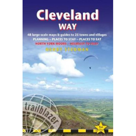 Cleveland Way: North York Moors - Helmsley to Filey: 48 Large-Scale Walking Maps, Town Plans, Overview Maps