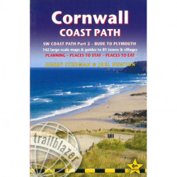 Cornwall Coast Path: Bude to Plymouth: Practical walking guide with 142 Large-Scale Walking Maps & Guides to 81 Towns