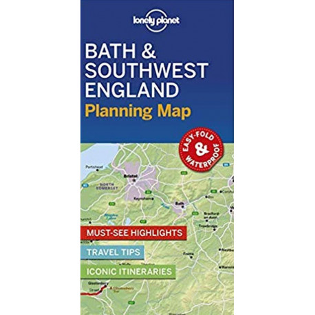 Lonely Planet Planning Map: Bath & Southwest England