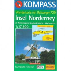Norderney, Kompass Wanderkarte 729