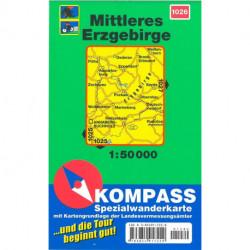 Mittleres Erzgebirge, Kompass Wanderkarte 1026