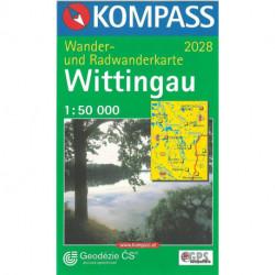 Wittingau (Trebon), Kompass Wander- u. Radwanderkarte 2028