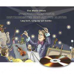 Symfoniorkestrets instrumenter med aktive elever: læg kort, syng og spil banko, hæfte med cd