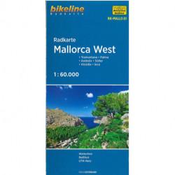 Radkarte Mallorca West: Tramuntana, Palma, Andratx, Sóller, Alcúdia, Inca