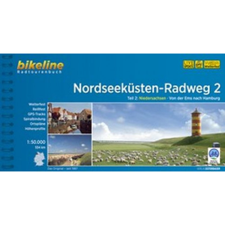 Nordseeküsten Radweg 2: Niedersachsen: Von der Ems nach Hamburg