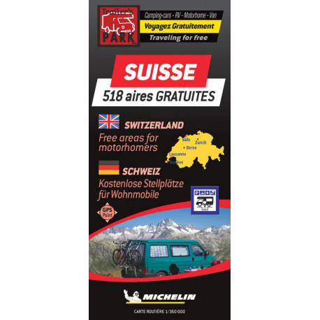 Switzerland - Suisse Autocamper map - Aires camping-cars