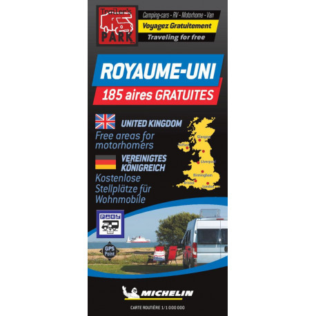 United Kingdom - Great Britain Autocamper map - Aires camping-cars