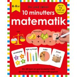 De små lærer - Skriv og visk ud - 10 minutters matematik: bog med ikke-permanent pen og spiralryg